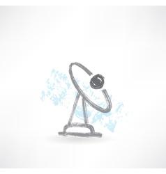 Tv antenna grunge icon vector