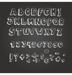 Chalk on blackboard style alphabet vector