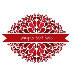 Red ribbon with decoration vector