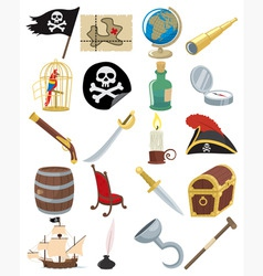 Pirate icons vector