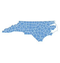 State map of north carolina by counties vector