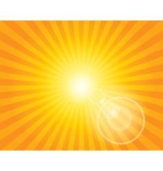 Sun sunburst pattern with lens flare vector