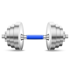 Metallic glossy dumbbell isolated on white vector