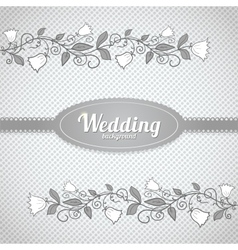 Wedding seamless pattern in classic style vector