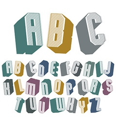 3d font with good style simple shaped geometric vector