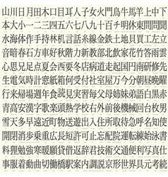 Kanji set vector