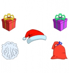 Attributes of the santa claus vector