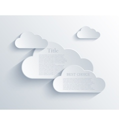 Cloud design element vector