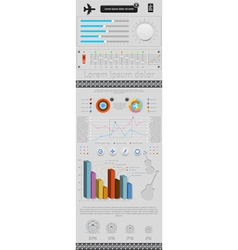 Set of elements infographics and icons vector