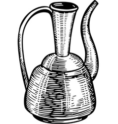 Old jug vector