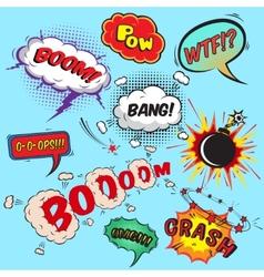Comic speech bubbles design elements collection vector