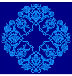 Blue artistic ottoman pattern series fifty three vector