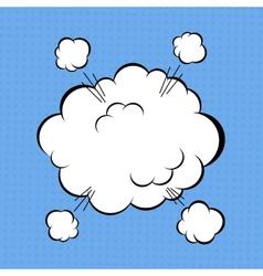 Comic cloud vector
