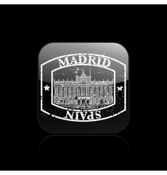 Madrid stamp icon vector