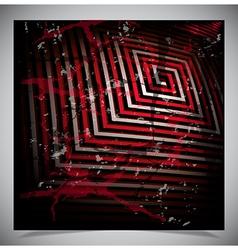 Red scratch grunge background vector