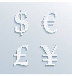 Money signs vector