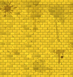 Old dirty yellow brick wall background vector