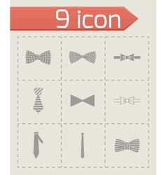 Bow ties icon set vector