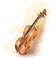 Violin vatercolor style vector