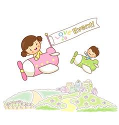 Children sky travel vector