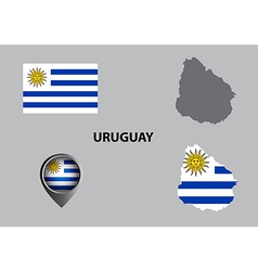 Map of uruguay and symbol vector