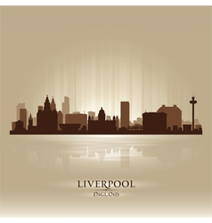 Liverpool england skyline city silhouette vector