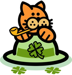 Fun cartoon cat vector
