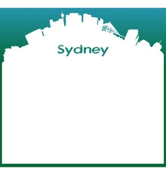 Background with sydney skyline vector