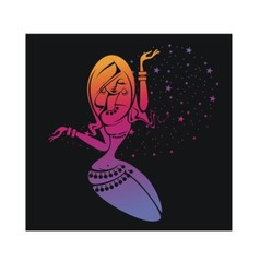 Silhouette of belly-dance girl vector