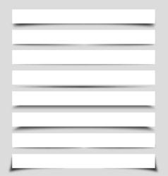 Box shadows vector
