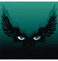 Winged eyes vector