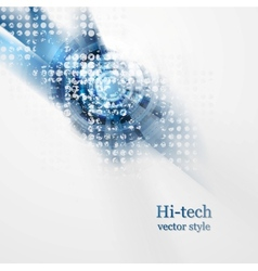 Blue grunge hi-tech background vector