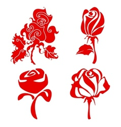 Red roses sign vector