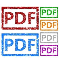 Pdf grunge rubber stamp set vector