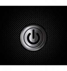 Metal button power vector