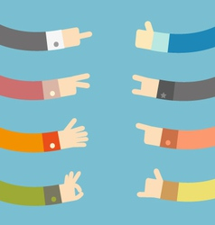 Set of flat hands design vector