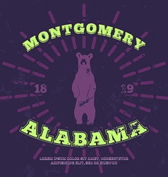 Montgomery alabama grunge on separate layer vector