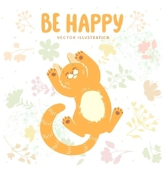 Kitten be happy vector