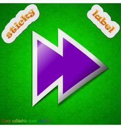 Multimedia control icon sign symbol chic colored vector