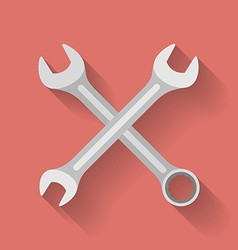 Icon of wrench flat style vector