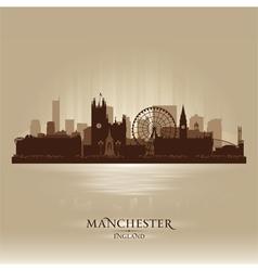 Manchester england skyline city silhouette vector