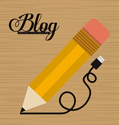 Blog design vector