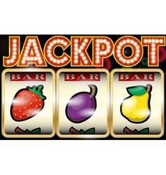 Slot machine jackpot vector