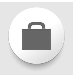 Briefcase black and white icon vector