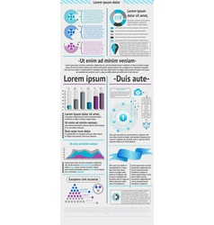 Elements of infographic vector