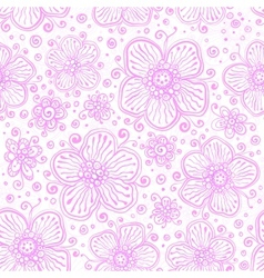 Light pink flourish seamless pattern vector