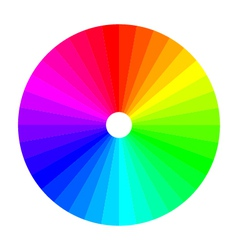 Color wheel with shade of colors colour spectrum vector