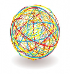 Scribble ball vector