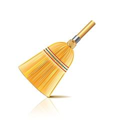 Broom isolated vector