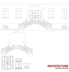 Black architecture background vector